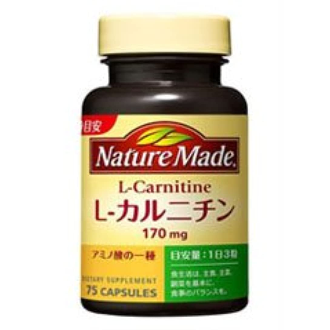お茶違反する水陸両用【大塚製薬】ネイチャーメイド L-カルニチン 75粒