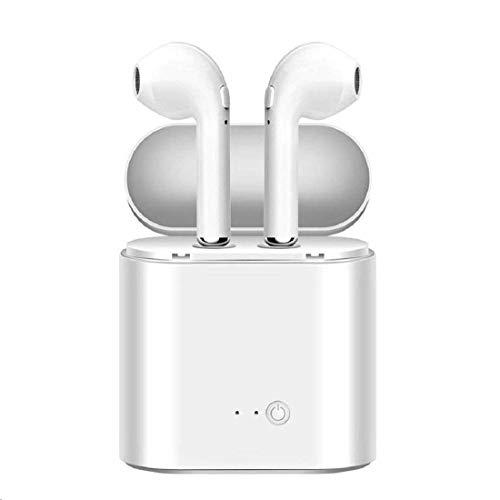 Bluetooth 5.0 進化版 Bluetooth イヤホン ワイヤレス イヤホン ACC Hi-Fi 高音質 防水規格 左右両耳通用 片耳両耳とも対応 マイク付 両耳ステレオ音声通話 iPhone/Android対応 超軽量 ホワイト(白)