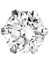 【 DIAMOND WORLD 】レディース ジュエリー PT900 ダイヤモンドピアス 0.15ct F・Gカラー ダイヤ使用 6本爪タイプ 片耳ピアス メンズピアス レディースピアス