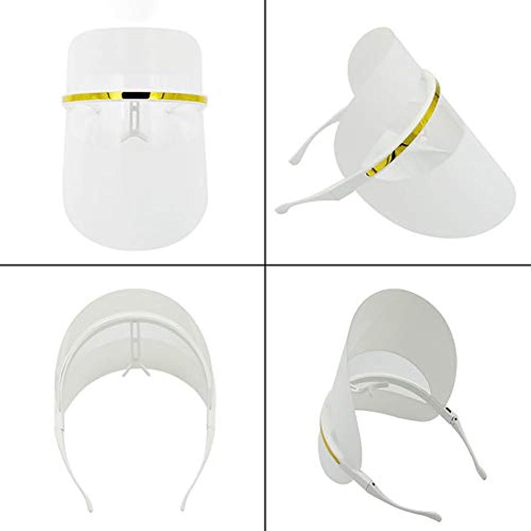 分析するがっかりした法律により7色LEDフェイスマスク、LEDフォトンビューティーマスク、健康的な肌の若返りのためのフォトンレッドライトセラピー、コラーゲン、アンチエイジング、しわ、瘢痕