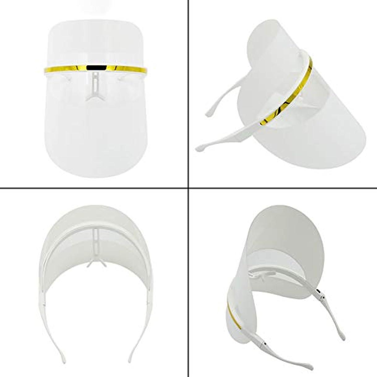 機会クレア笑7色LEDフェイスマスク、LEDフォトンビューティーマスク、健康的な肌の若返りのためのフォトンレッドライトセラピー、コラーゲン、アンチエイジング、しわ、瘢痕