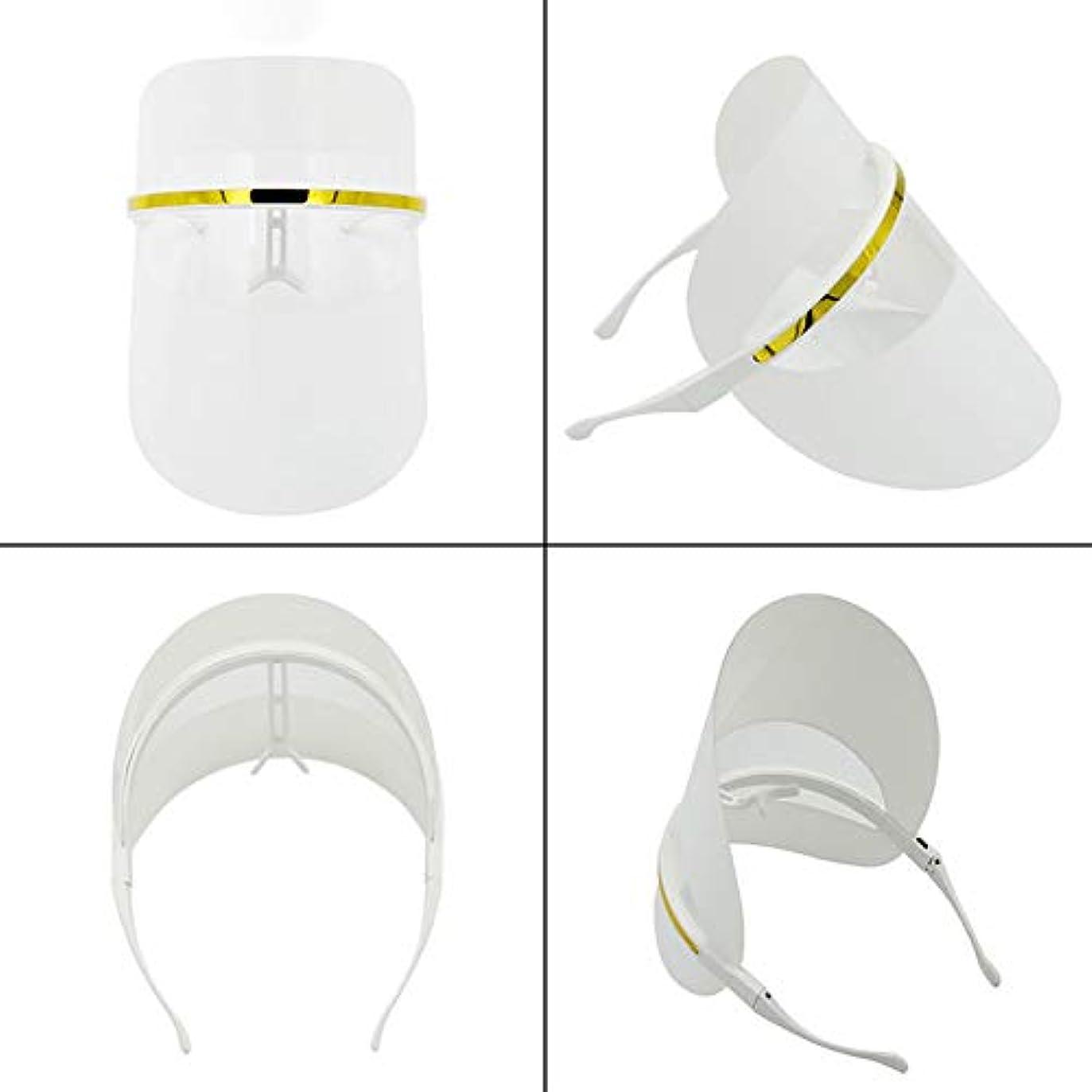 ビジター安定したジャグリング7色LEDフェイスマスク、LEDフォトンビューティーマスク、健康的な肌の若返りのためのフォトンレッドライトセラピー、コラーゲン、アンチエイジング、しわ、瘢痕