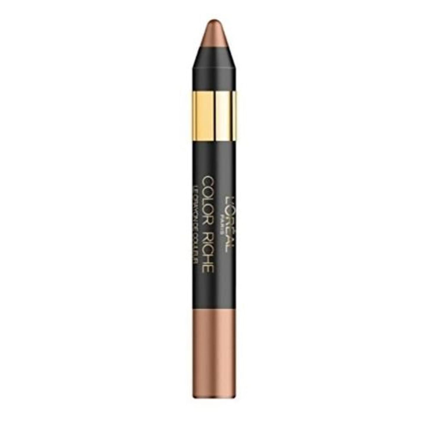 ガジュマル好む変装Loreal Color Riche Eye Color Eyeliner Shadow Pencil Smoky Taupe 03