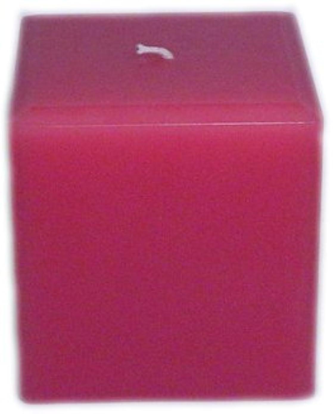 成功するリフト月面Trinity Candle工場 – ローズ – Pillar Candle – 正方形 – 4 x 4