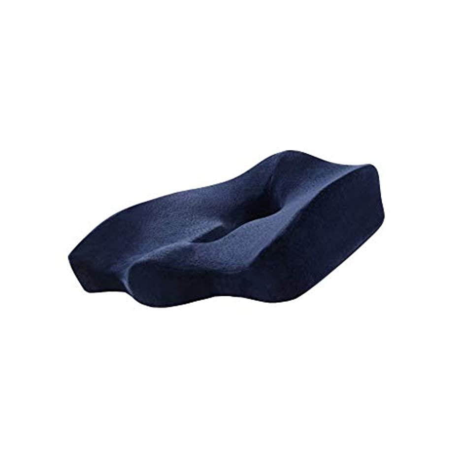 百年いたずらこんにちは18-AnyzhanTrade 痔術後リラクゼーションヒップ圧力竹炭メモリーフォームクッション産科椅子快適な通気性ソリッドカラークッション枕クッション (Color : Mysterious Blue)