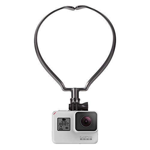 【2019最新版】GoPro アクセサリー マウント ネックレス式マウント スマホ アクションカメラ ウェアラブルカメラ用 GoPro HERO7/6/5/4/3/2、SJCAM Gopro session などに対応 スマホ対応 POV 撮影 ビデオなどに最適 2年保証