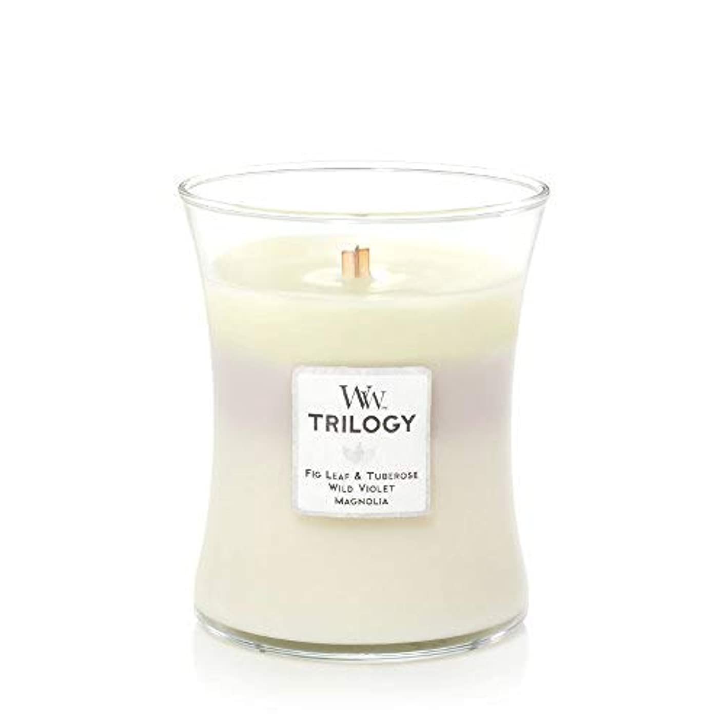 ひまわりクッション暖炉WoodWick Terrace Blossoms トリロジー ミディアムキャンドル 9.7オンス