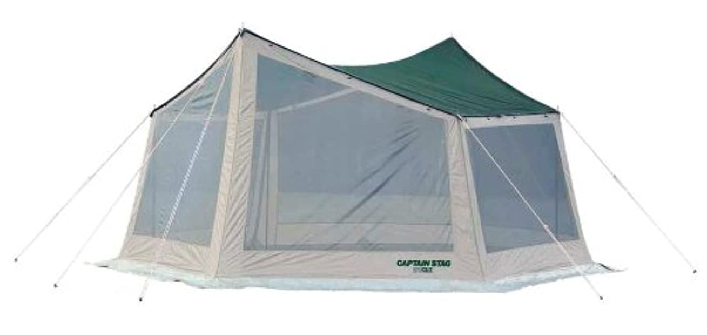 コンクリート代わりの発明するキャプテンスタッグ(CAPTAIN STAG) テント タープ サンシェルター 虫よけ CS ヘキサメッシュ タープ UVM-3150