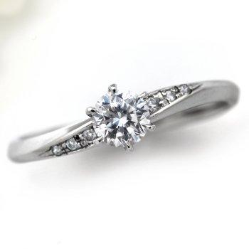 婚約指輪 ダイヤモンド プラチナ 0.2ct 鑑定書付 0.263ct Eカラー VS1クラス 3EXカット H&C CGL サイズ9号