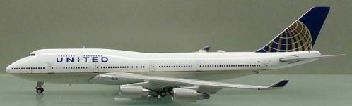 1: 400 ジェミニジェット ユナイテッド 航空 ボーイング 747-400 CO Merger Colors (並行輸入)