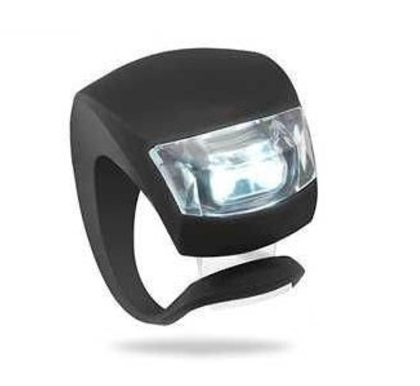 ネーピアシェルタースリムサイクル自転車シリコン簡易装着2LED小型前照灯/LEDライト