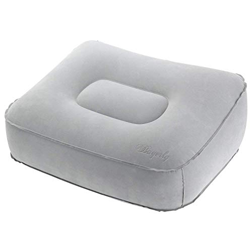 Bagerly フットレスト 足枕 旅行 便利グッズ 飛行機 腰 あし置き 足むくみ対策 足疲れ取れ 空気式 折畳 厚さ調整可能 家庭 飛行機 車 用