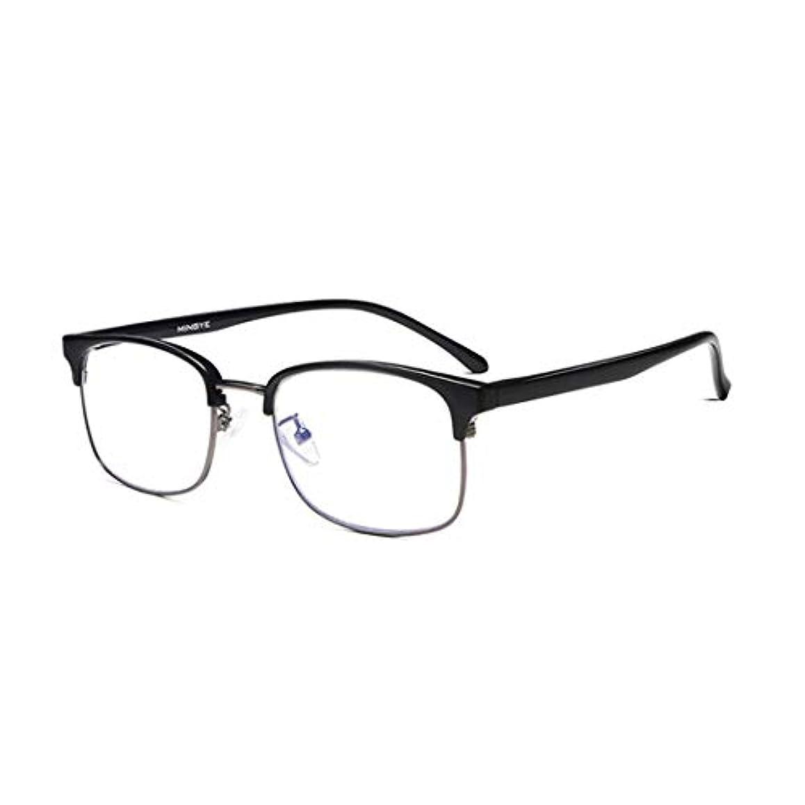 アンチブルーリーディングメガネ、デュアルユーススマートズームメガネ、超軽量高解像度アンチブルー放射線メガネ、抗疲労およびハードPCレンズ