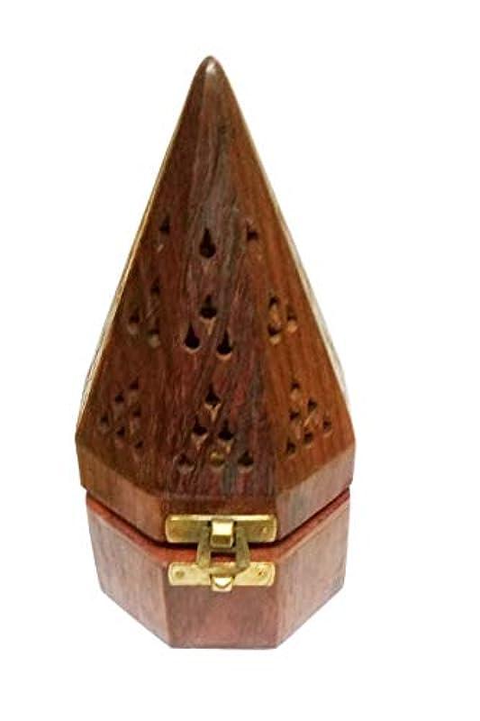 隠された入手しますあそこSahishnu オンライン&マーケティング 木製テンプルスタイル フープホルダー お香ホルダー
