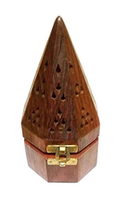 Sahishnu オンライン&マーケティング 木製テンプルスタイル フープホルダー お香ホルダー