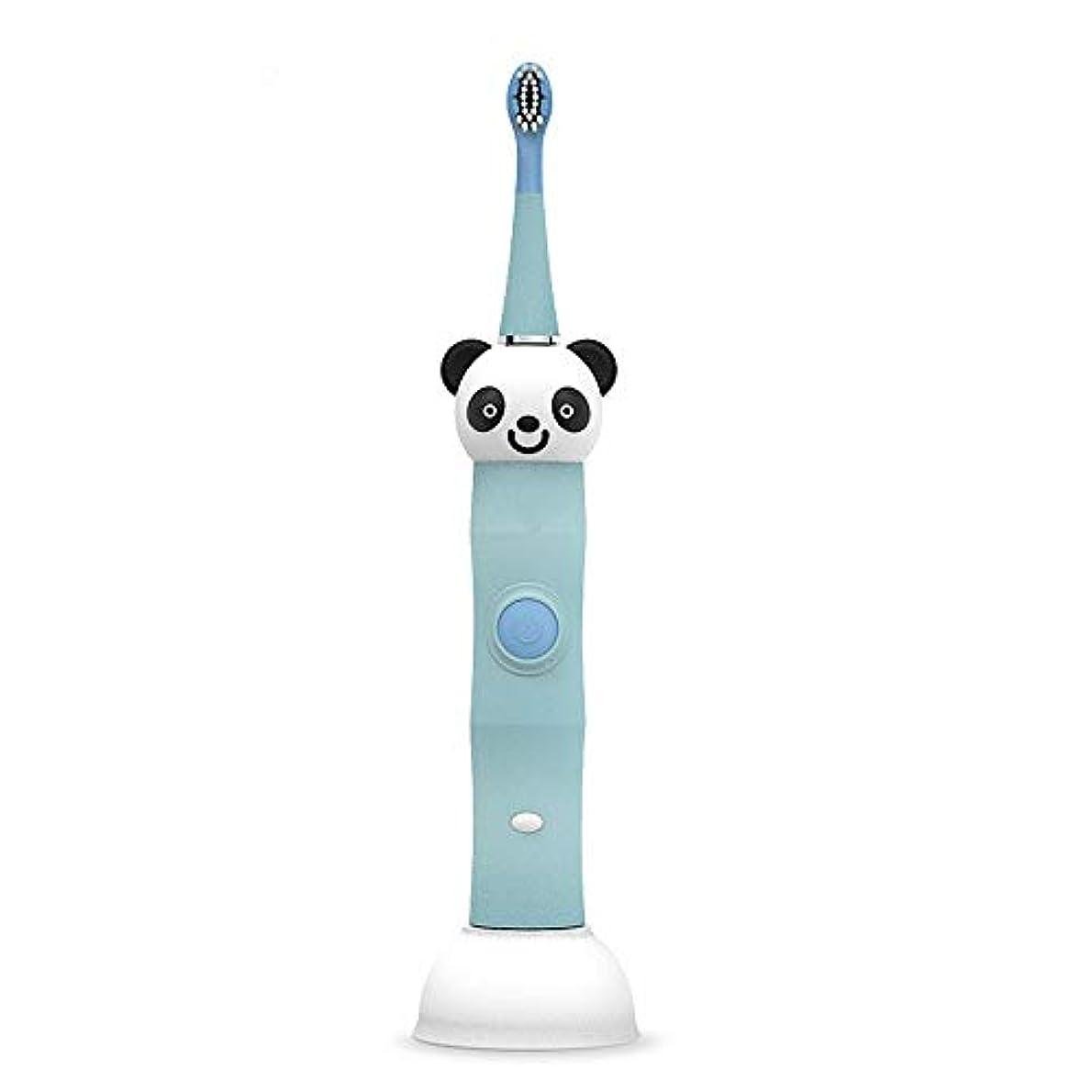 クリームペイント静める電動歯ブラシ 毎日の使用のためのUSBの充満基盤の柔らかい毛のきれいな歯ブラシと防水子供の電動歯ブラシ 大人と子供向け (色 : 青, サイズ : Free size)