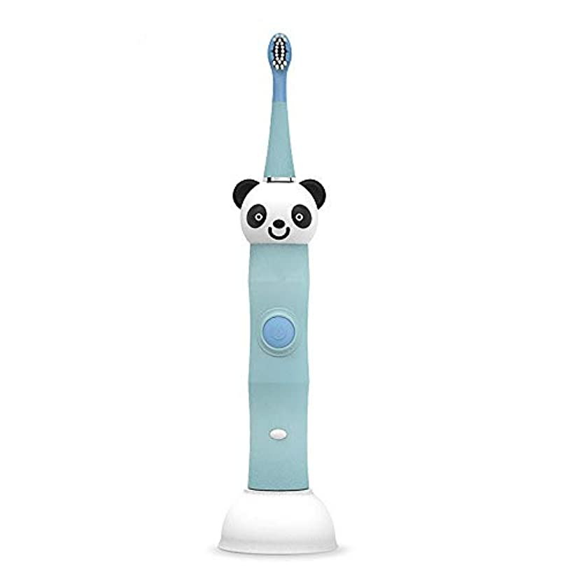 シャーク郵便溶岩電動歯ブラシ 毎日の使用のためのUSBの充満基盤の柔らかい毛のきれいな歯ブラシと防水子供の電動歯ブラシ 大人と子供向け (色 : 青, サイズ : Free size)