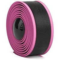 FenBuGu-JP アンチスキッドシリコン自転車バーテープハンドルストラップ自転車固定ギアバー/ハンドルバーテープ包帯(ピンク+ブラック)