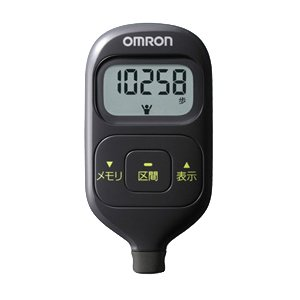 オムロン(OMRON) 歩数計 ウォーキングスタイル ブラック HJ-203-K