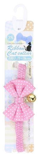 ターキー 水玉猫リボンカラー 2S/ピンク 1本