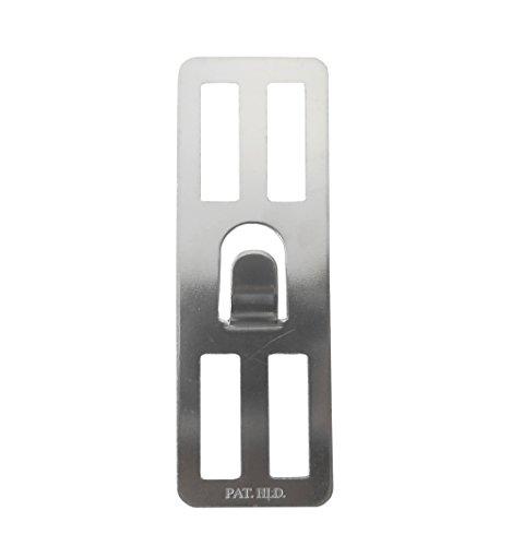 RoomClip商品情報 - 壁美人 ホチキスで取付壁掛けフック 石膏ボード用固定金具 P-4 シルバー 痕が目立たない 2枚セット P-4Sh