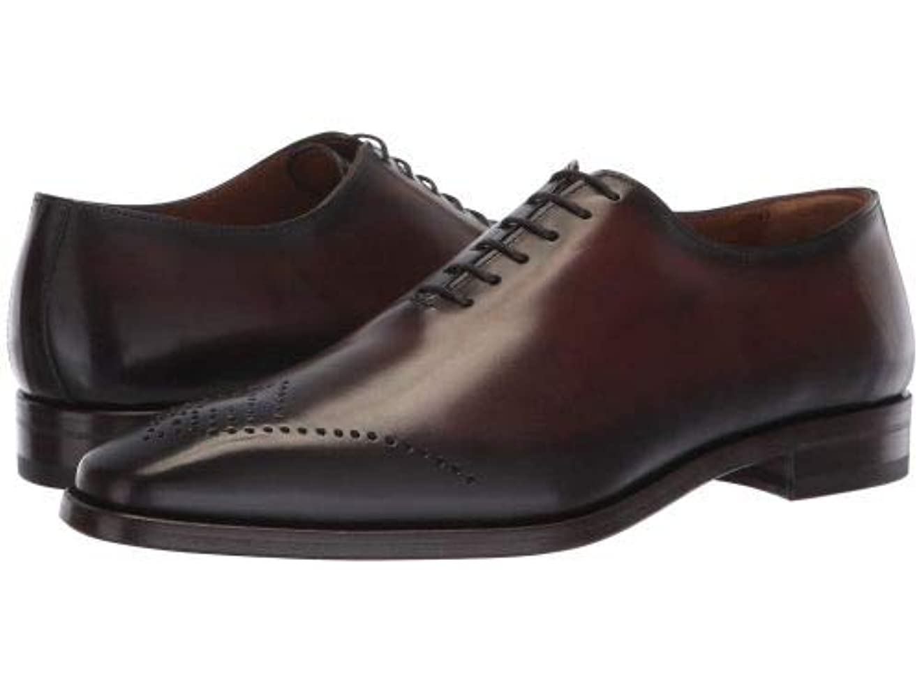 醸造所呼吸するマークされたBruno Magli(ブルーノマリ) メンズ 男性用 シューズ 靴 オックスフォード 紳士靴 通勤靴 Claudio - Dark Brown [並行輸入品]