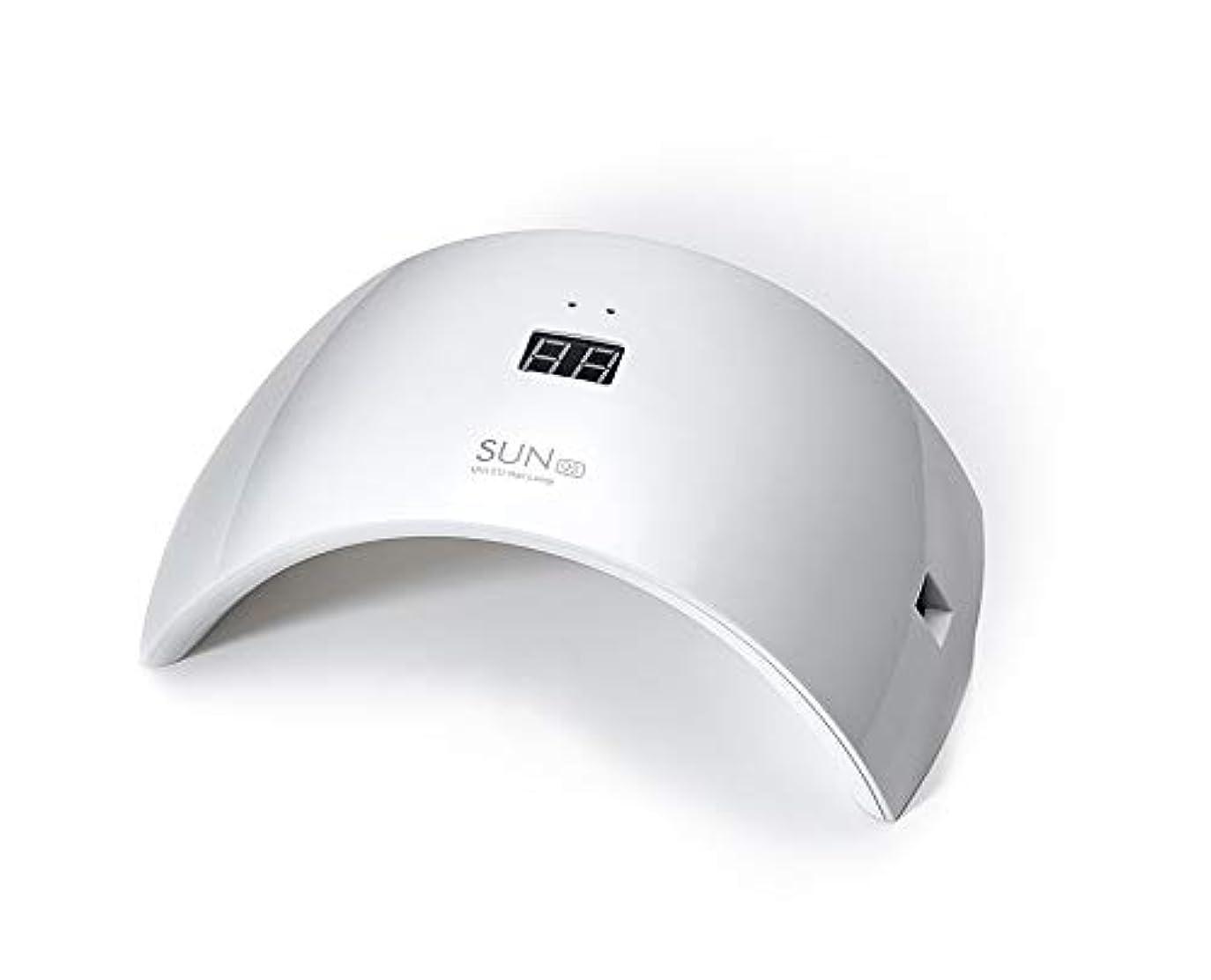 バンドルオーガニック上院ネイルドライヤー UV LEDネイルライト 24W ハイパワー 硬化用UVライト 赤外線検知 ジェルネイルライト 人感センサー タイマー付き ネイルランプ 速乾LEDダブルライト 母の日ギフト
