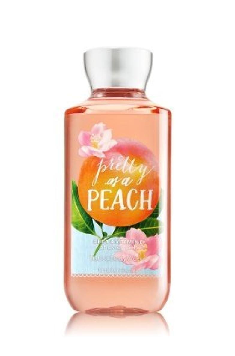 症状マット葉っぱ【Bath&Body Works/バス&ボディワークス】 シャワージェル プリティーアズアピーチ Shower Gel Pretty as a Peach 10 fl oz / 295 mL [並行輸入品]
