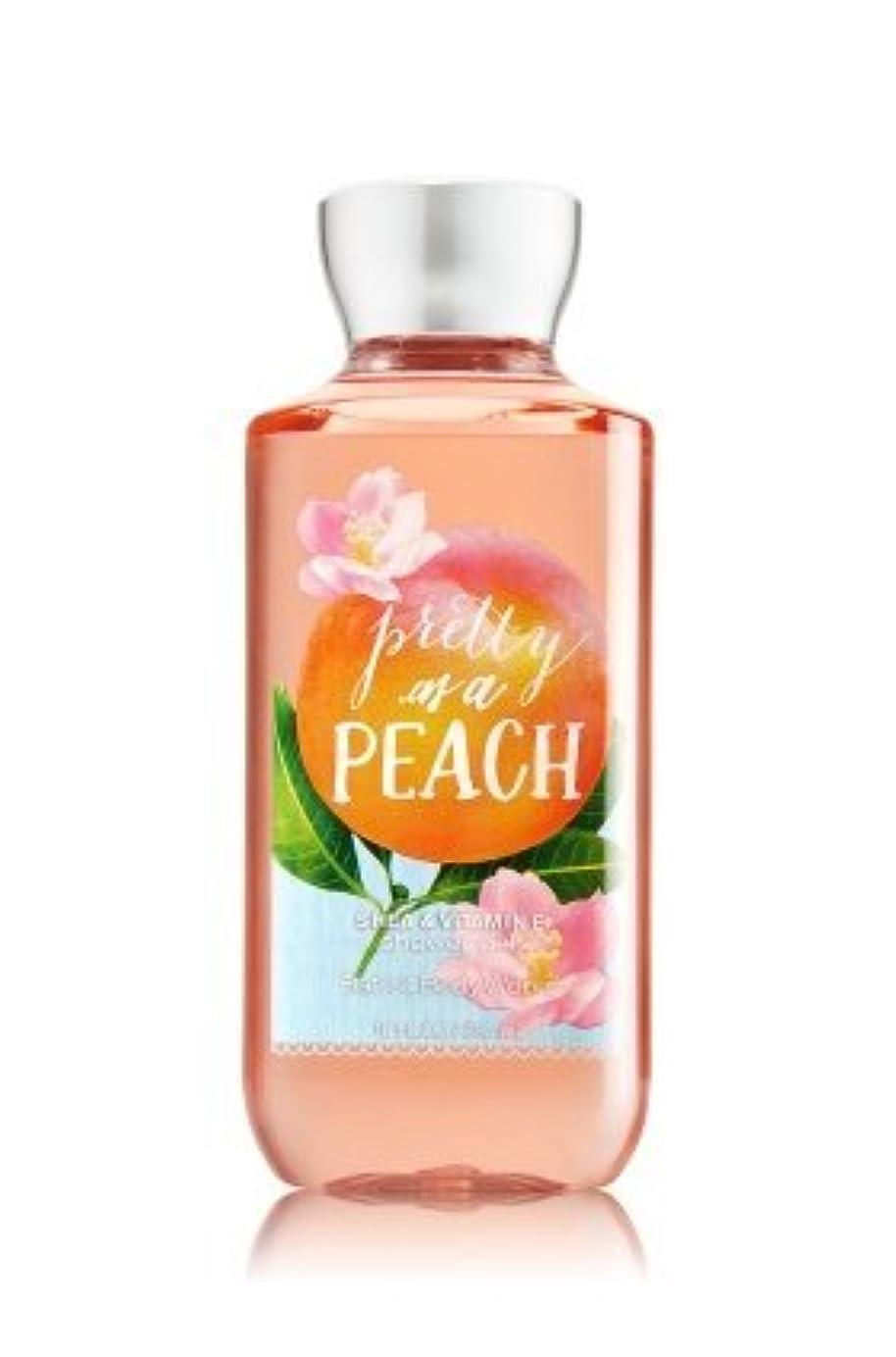 エンターテインメント作業典型的な【Bath&Body Works/バス&ボディワークス】 シャワージェル プリティーアズアピーチ Shower Gel Pretty as a Peach 10 fl oz / 295 mL [並行輸入品]