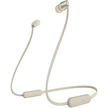 ソニー SONY ワイヤレスイヤホン WI-C310 : Bluetooth対応/最大15時間連続再生/マイク付き フラットケーブル採用 2019年モデル ゴールド WI-C310 NC