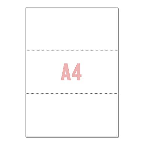 A4サイズ 3分割 マイクロミシン目入りPPC用紙 (500...