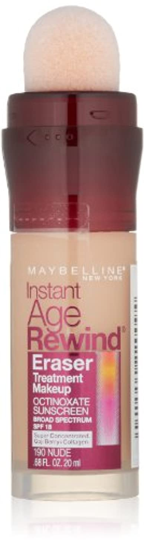 人気のラメ船上MAYBELLINE Instant Age Rewind Eraser Treatment Makeup - Nude (並行輸入品)