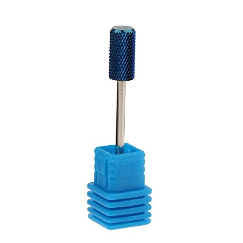 親愛などんよりしたかんたん青い電気炭化物の釘の穴あけ工具のマニキュアのペディキュアのキューティクルのクリーニング用具 - M4-B