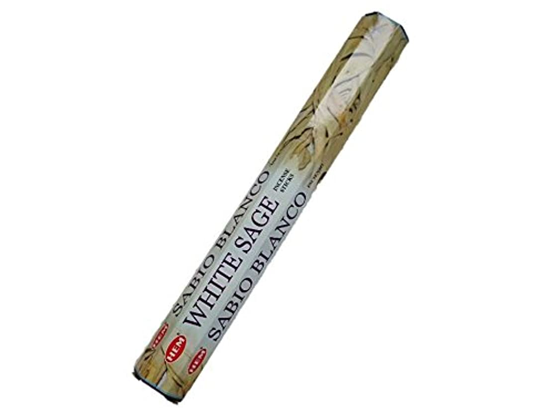 膜持続的薬を飲むHEM(ヘム)お香:ホワイトセージ スティックお香/インセンス/1箱