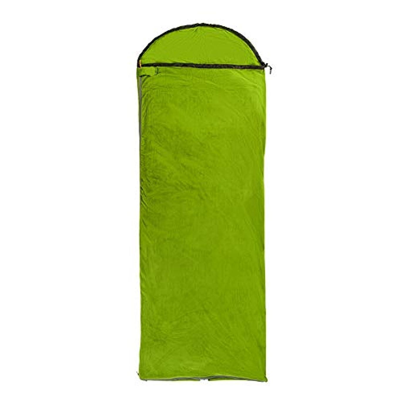 安定エレベーター酒IAIZI 寝袋大人のキャンプキャンプ超軽量ポータブル夏の春と秋の暖かい下着 (Color : Green)