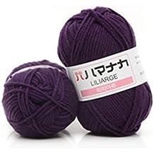 Double Knitting Wool 4 Shares Combed Milk Cotton Yarn Comfortable Wool Blended Yarn Apparel Sewing Yarn Hand Knitting Scarf Hat Yarn