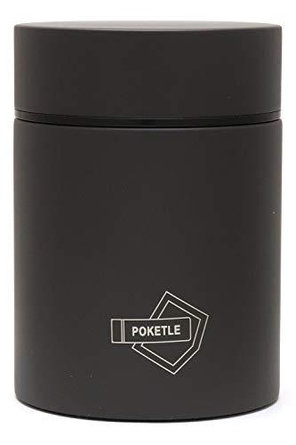 POKETLE ポケトル スープボトル 160ml スープジャー カップスープ ステンレス製マグボトル ミニボトル 水筒 保温 保冷 (チャコールグレー)