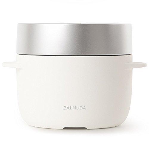 バルミューダ 3合炊き電気炊飯器 BALMUDA The Gohan K03A-WH(ホワイト)