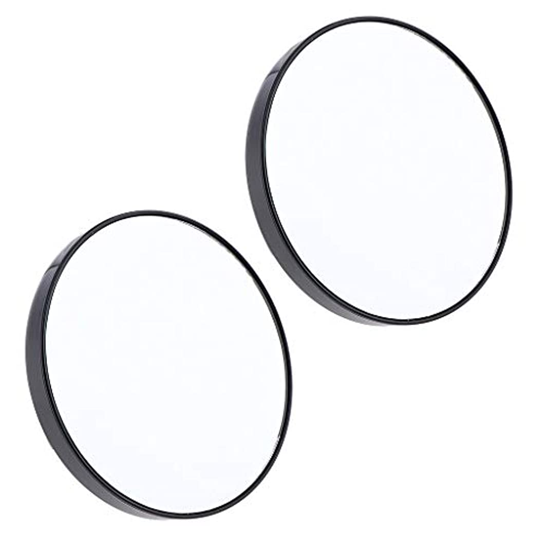 気分が悪いヒープセラーF Fityle 2個 サクションミラー メイクミラー 化粧鏡 10倍 拡大鏡 壁の吸引ミラー