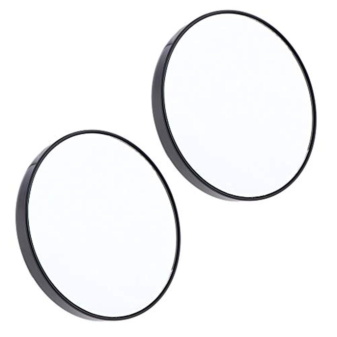 小道具無視する証言F Fityle 2個 サクションミラー メイクミラー 化粧鏡 10倍 拡大鏡 壁の吸引ミラー
