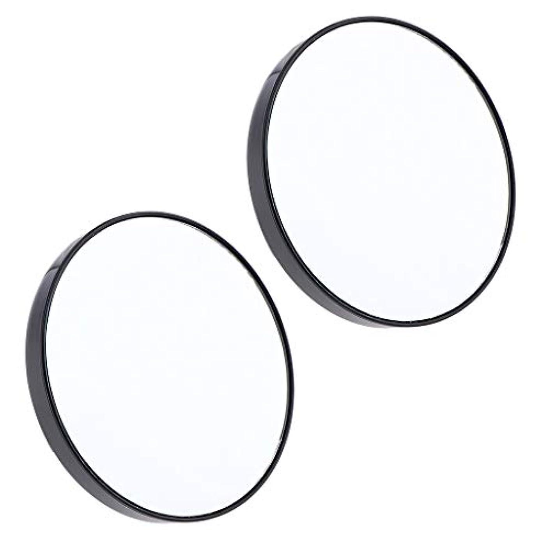 カメラネズミトラフィックF Fityle 2個 サクションミラー メイクミラー 化粧鏡 10倍 拡大鏡 壁の吸引ミラー