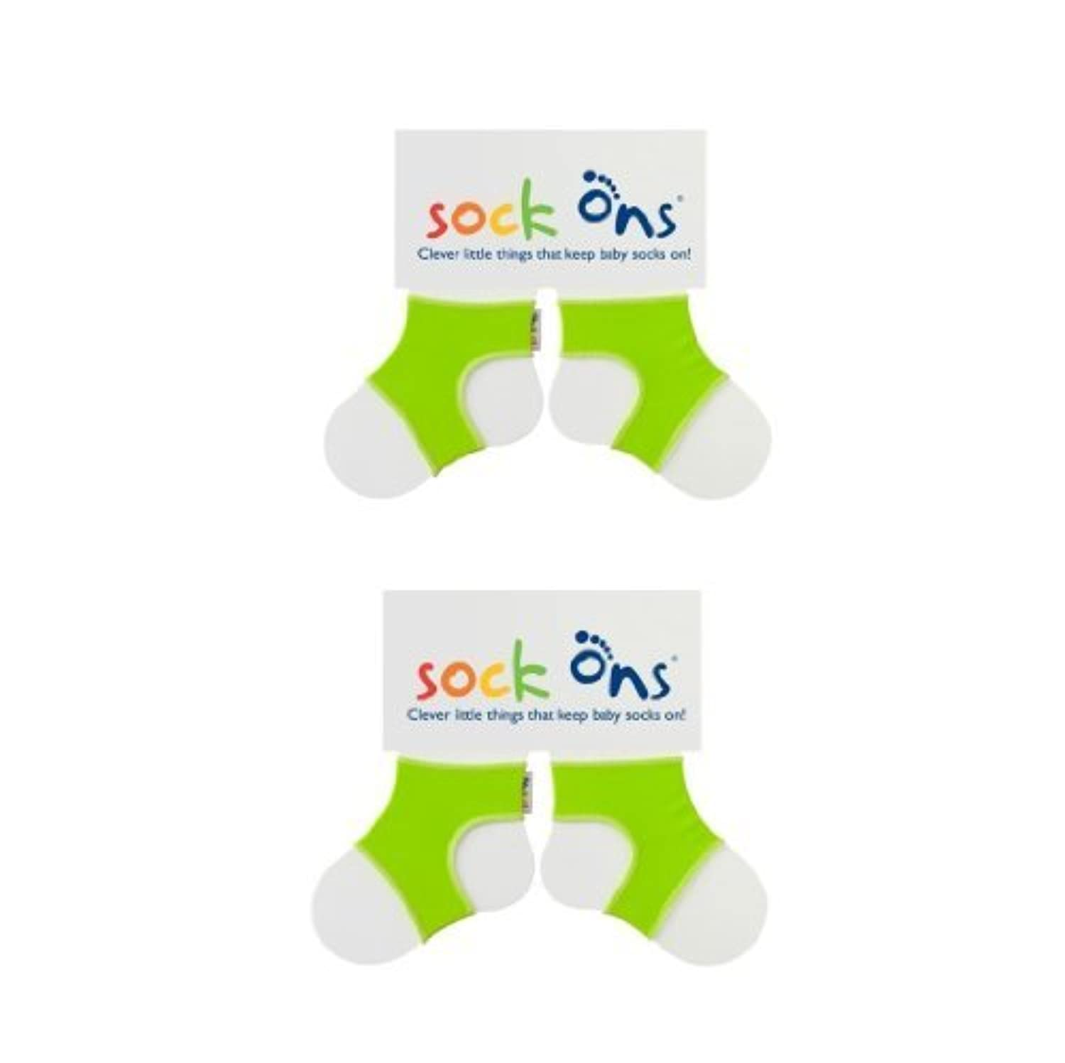 Sock Ons 6-12 Months - TWIN PACK Gift Wrap Available (Lime Green Twin Pack) by Sock Ons