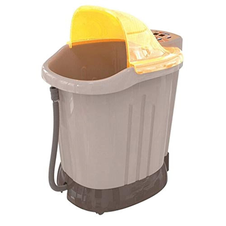 フットマッサージャー?フットバス 深いバレルマッサージフットバス自動加熱フットバス電気足浴槽 (Color : Yellow, Size : 54*58cm)