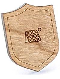 Tchoukballラペルピン、木製ピンとタイタック|素朴な、ミニマルGroomsmenギフト、ウェディングアクセサリー