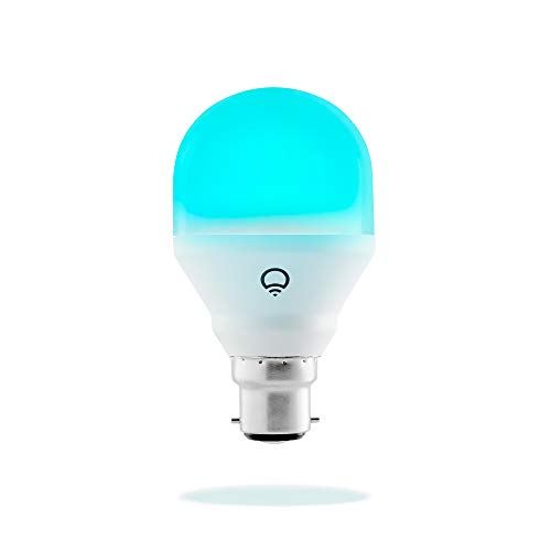 LIFX Mini, B22, Adjustable, Multicolour, Dimmable, No Hub Required, Works with Alexa, Apple HomeKit and the Google Assistant