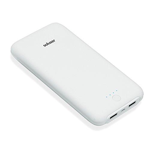 (2018年新版)Soluser 24000mAh モバイルバッテリー大容量急速充電器 薄型 2USB充電ポートiPhone/ iPad/Galaxy/ Xperia/Nexus/PSvita/タブレット/ゲーム機 等対応