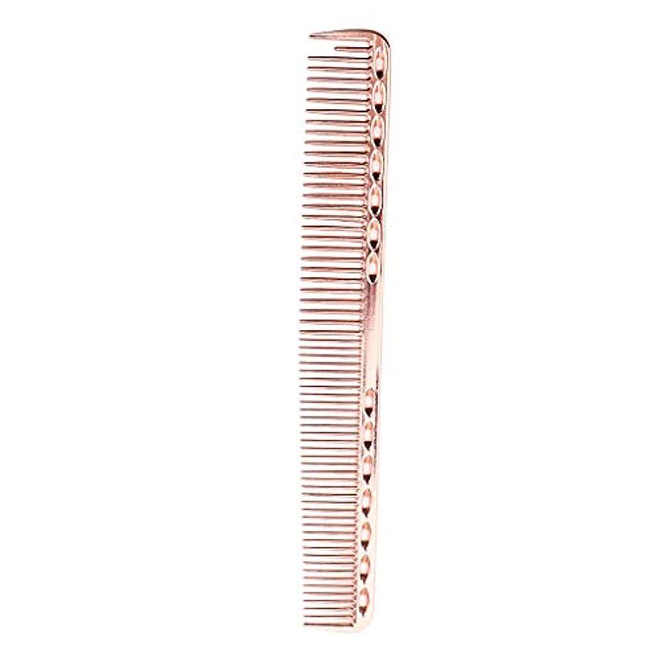 長々とデコレーションヒロイック帯電防止櫛 頭皮マッサージ ヘアコーム プロ ヘアサロン 自宅用 5色選べ - ローズピンク