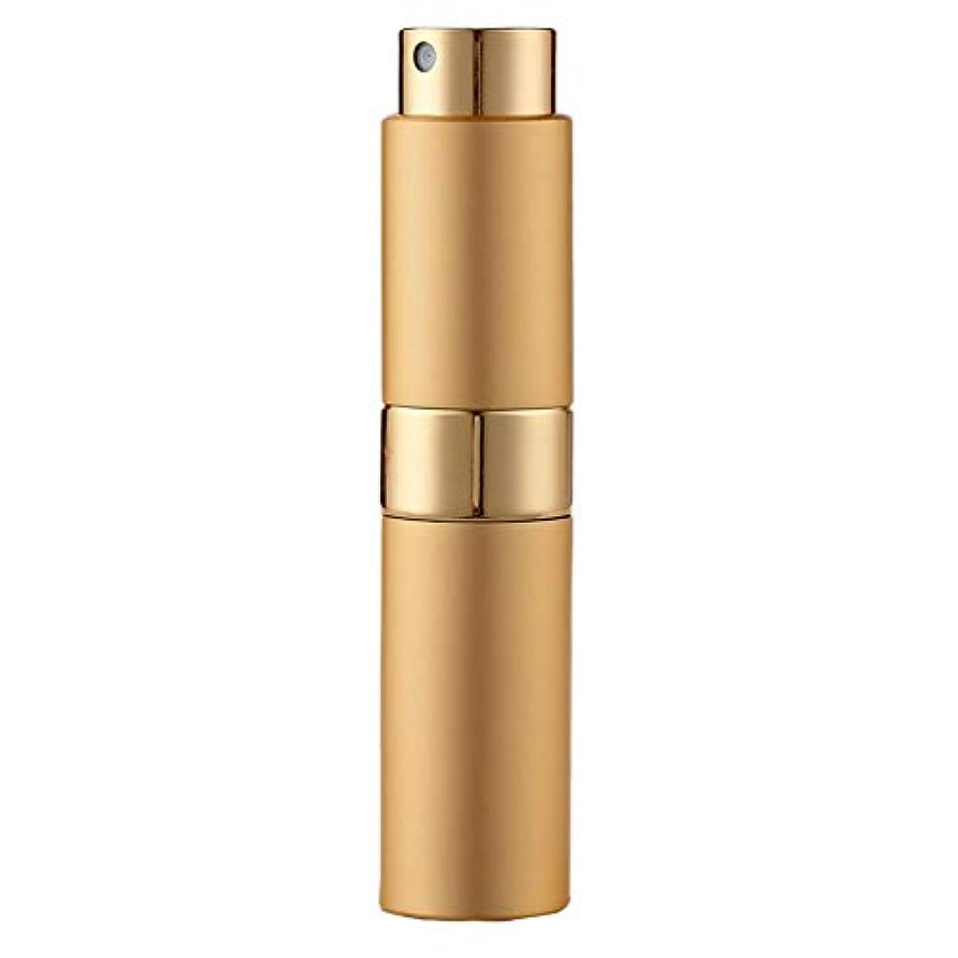 サイズ安西経験Ladygogo 香水アトマイザーセット 回転プッシュ式 スプレー ボトル 香水スプレー 詰め替え 持ち運び 身だしなみ 携帯用 男女兼用 (ゴールド)