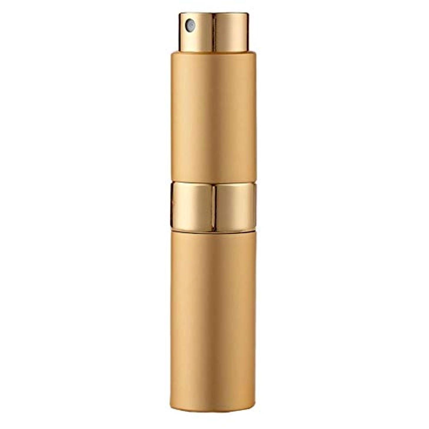 アルカトラズ島ハンバーガーみLadygogo 香水アトマイザーセット 回転プッシュ式 スプレー ボトル 香水スプレー 詰め替え 持ち運び 身だしなみ 携帯用 男女兼用 (ゴールド)
