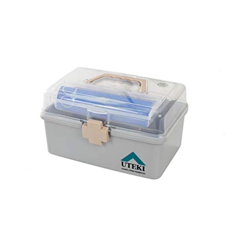 締めるベンチャーモーターKTYXDE 薬箱家庭用大容量家族多層薬箱救急箱収納ボックス医療診断ボックス26×16×14.5センチ 薬収納ボックス
